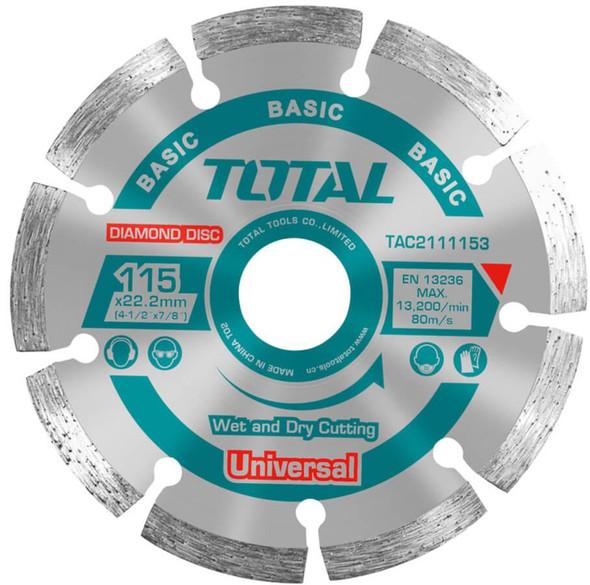 "DISC 4 1/2"" DIAMOND TOTAL TAC2111153 115MM"