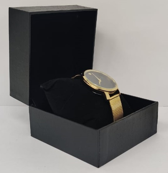 Watch Fashion Generic Men Gold With Mesh Strap