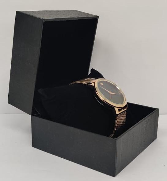 Watch Fashion Generic Men Rose Gold With Mesh Strap