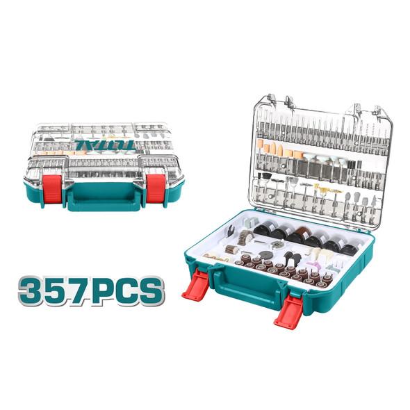 TOOL SET 357PCS TOTAL TACSD13571 ACCESSORIES FOR MINI DRILL