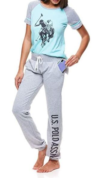 Women PJ/lounge wear Set US Polo Blue & grey