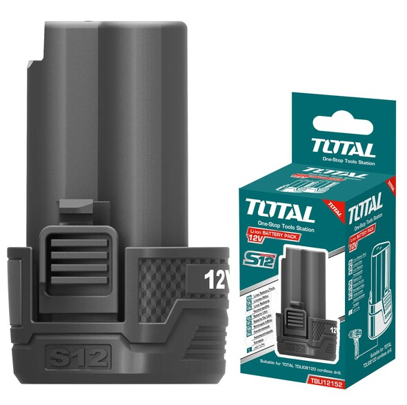 BATTERY PACK 12V 1.5Ah TOTAL TBLI12152 LITHIUM-ION