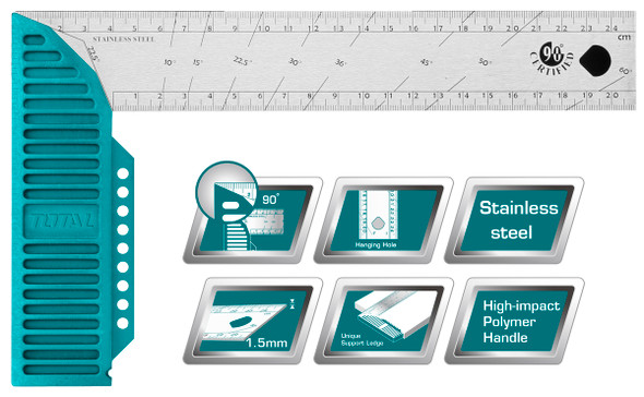 """TEE SQUARE TOTAL TMT61126 12"""" 300MM ANGLE SQUARE"""