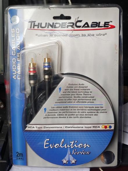 LEAD 2 RCA MALE TO 2 RCA MALE 6.6' EVA-2M THUNDER CABLE