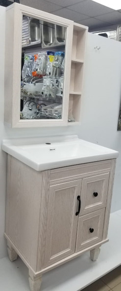 BATHROOM CABINET #9350-60 WITH SINK AND MIRROR 60X48X64 CM