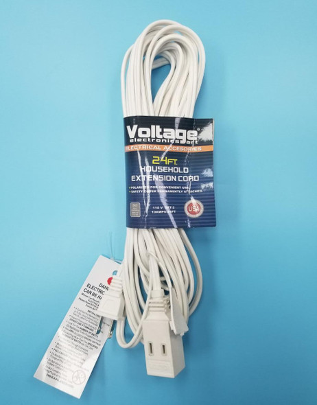 EXTENSION CORD 24FT VOLTAGE WHITE 24FT/IN