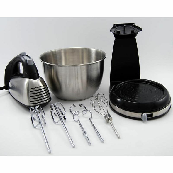 CAKE MIXER WITH BOWL HAMILTON BEACH STAINLESS STEEL 64650