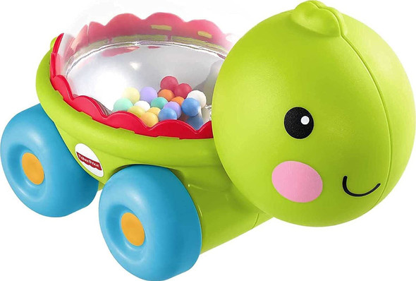 Toy Fisher-Price Poppity Pop Turtle infant push-along vehicle