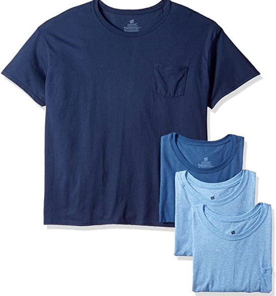 Men Hanes T-shirt Assorted colors 4pack Tagless