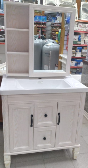 BATHROOM CABINET #9350-80 WITH SINK AND MIRROR 80X48X64 CM