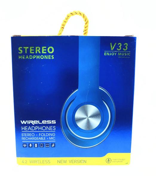 HEADPHONE WIRELESS V33 ENJOY MUSIC