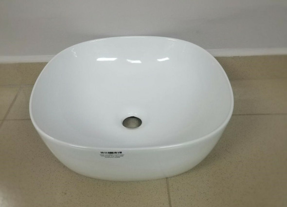 SINK CERAMIC TWYFORD COUNTER TOP SQUARE 420X420X145MM