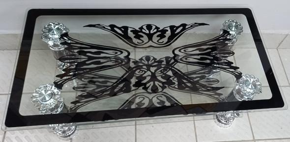 GLASS TABLE #15 2021 BLACK & CHROME