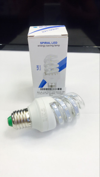 BULB ENERGY LED ROHS 5W COLOR WH SPIRAL 110/220