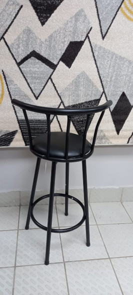 BAR STOOL ZF-0206 BLACK WITH METAL BACK REST