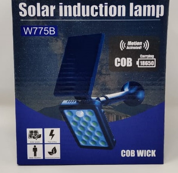 SOLAR LAMP LED INDUCTION W775A COB WICK MOTION ACTIVATED