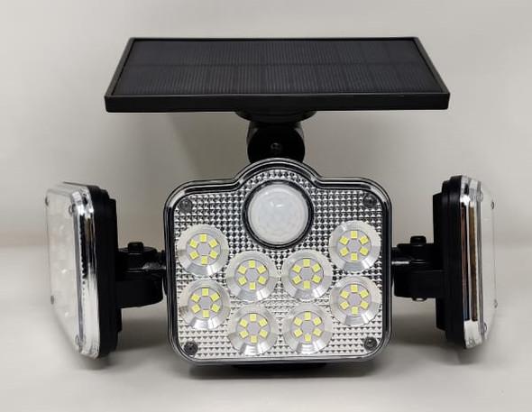 SOLAR LAMP LED SENSOR JD 2858 WITH REMOTE CHROME