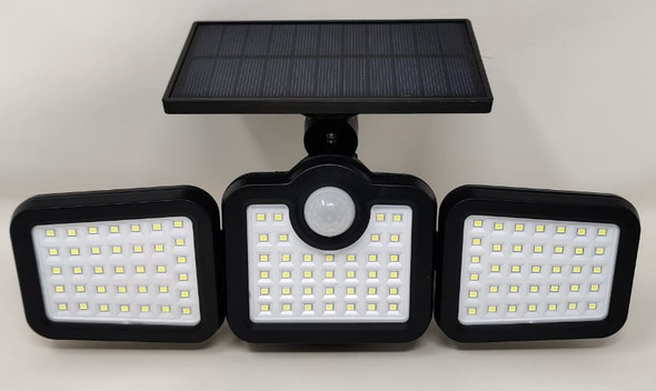 SOLAR LAMP LED SENSOR JD 2656 WITH REMOTE WHITE