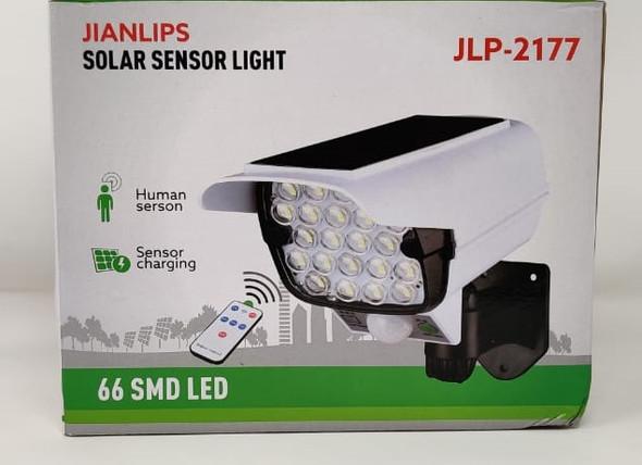 SOLAR LAMP LED SENSOR JLP-2177 JIANLIPS 66SMD WITH REMOTE