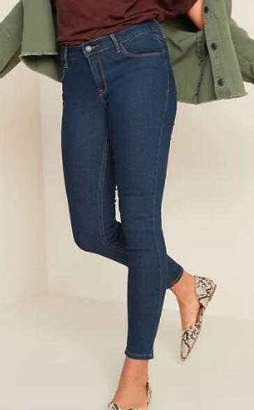 Women Jeans Old Navy Super Skinny Dark wash mid-rise