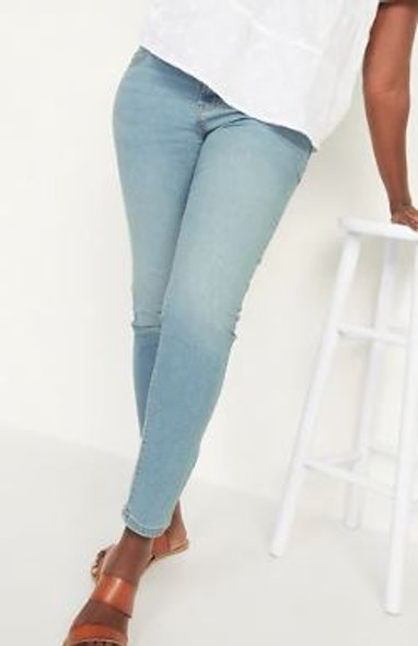 Women Jeans Old Navy Super Skinny Light wash mid-rise
