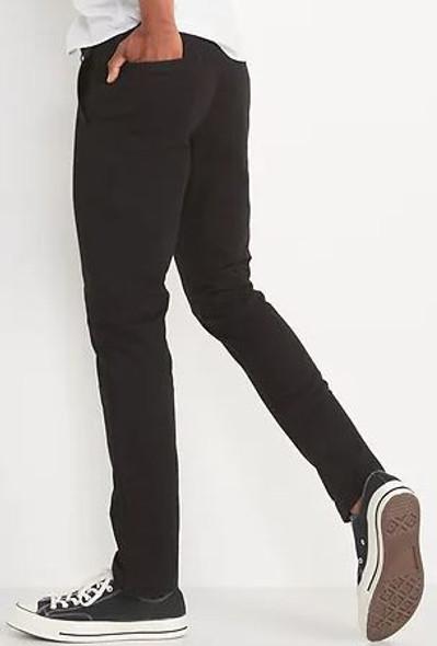 Men Pants Lived in Khaki Skinny black