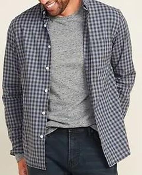 Men Shirt Old Navy long sleeve grey check