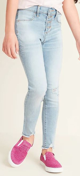 Girls jeggings Old Navy Button fly light wash