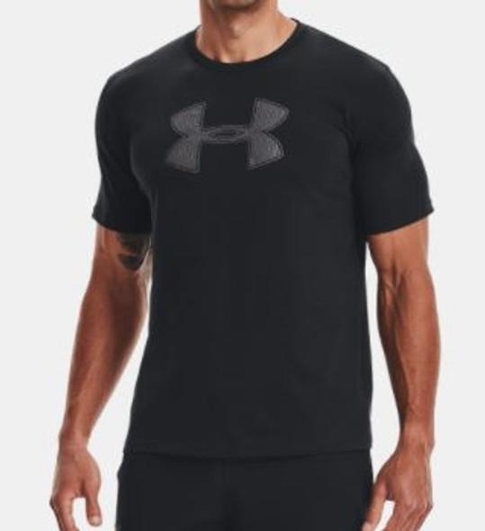 Men T-Shirt Under Armour Black Big logo