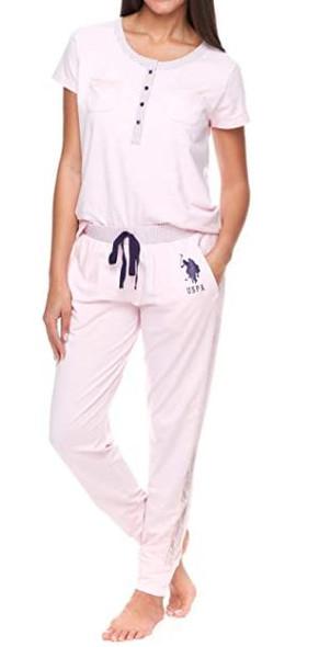 Women PJ/Loungewear Set US Polo baby pink & navy