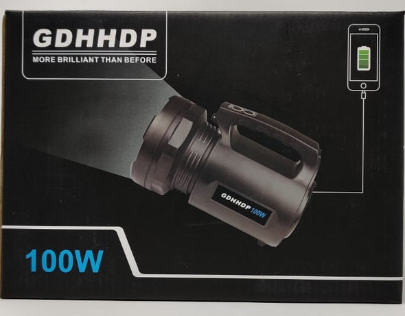 TORCH LIGHT LED GDHHDP HH-9000 100W RECHARGEABLE