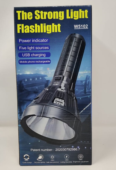 TORCH LIGHT LED W5102 RECHARGEABLE THE STRONG LIGHT FLASHLIGHT