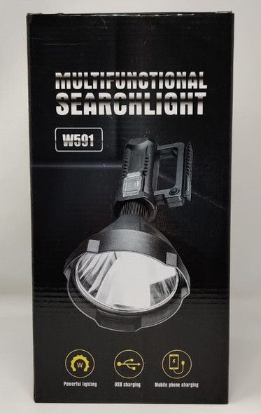 TORCH LIGHT LED W591 RECHARGEABLE MULTIFUNCTIONAL SEARCHLIGHT