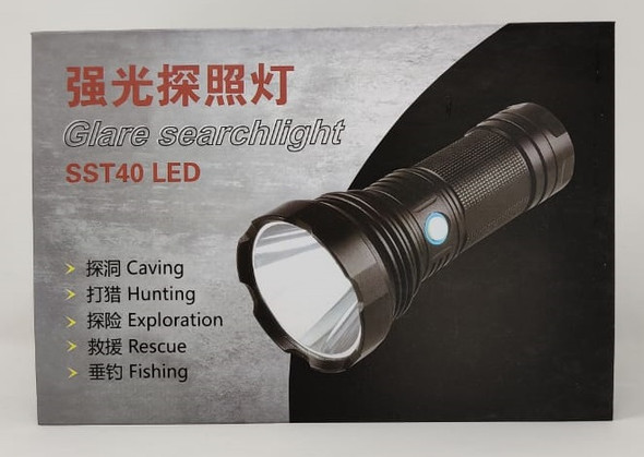 TORCH LIGHT LED SEARCHLIGHT SST40 RECHARGEABLE GLARE