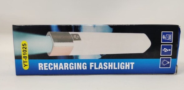 TORCH LIGHT LED YT-81025 AND POWER BANK RECHARGEABLE RECHARGING FLASHLIGHT