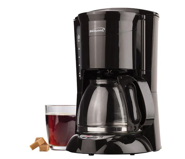 COFFEE MAKER BRENTWOOD TS-218B 12CUP DIGITAL BLACK 110V