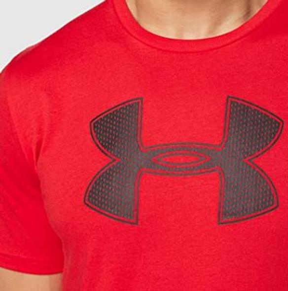 Men T-Shirt Under Armour Red Big Logo