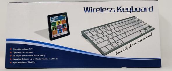 COMPUTER MINI KEYBOARD WIRELESS BK3001 SILVER & WHITE