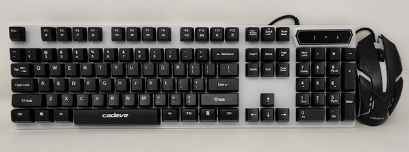 COMPUTER KEYBOARD & MOUSE COMBO 9122 CADEVE LIGHTED
