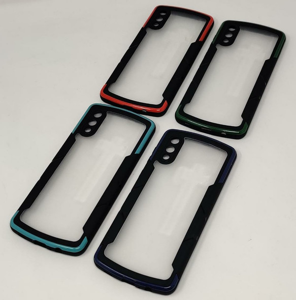 PHONE CASE FOR SAMSUNG A02 TWO COLOR CLEAR BACK