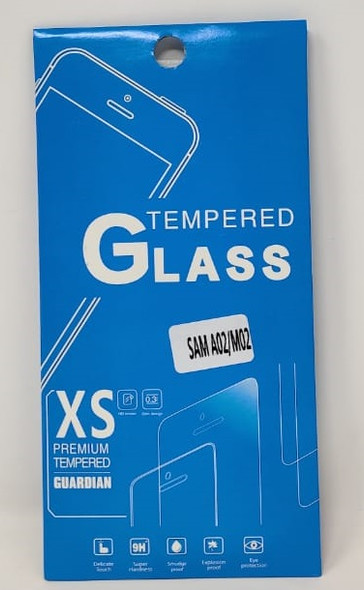 PHONE SCREEN PROTECTOR FOR SAMSUNG A02 M02 TEMPERED GLASS XS PREMIUM TEMPERED