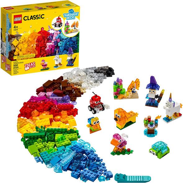 Toy LEGO Classic Creative Transparent Bricks 11013 Building Kit (500pcs)