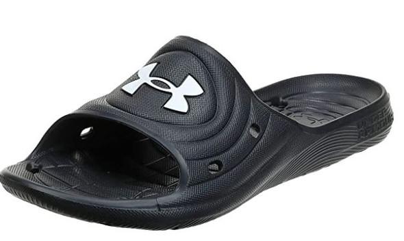 Footwear Men Under Armour Locker Camo Slide Sandal Black