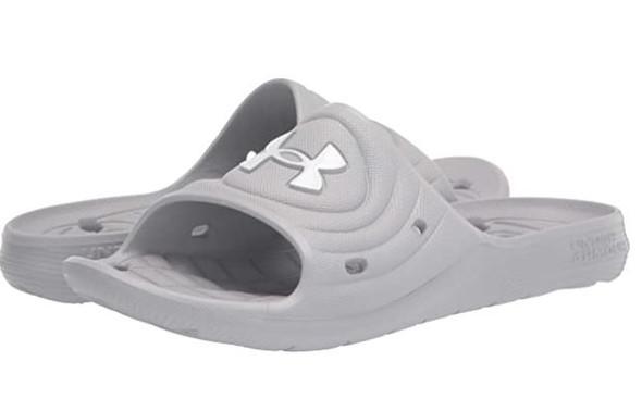 Footwear Men Under Armour Locker Camo Slide Sandal Grey