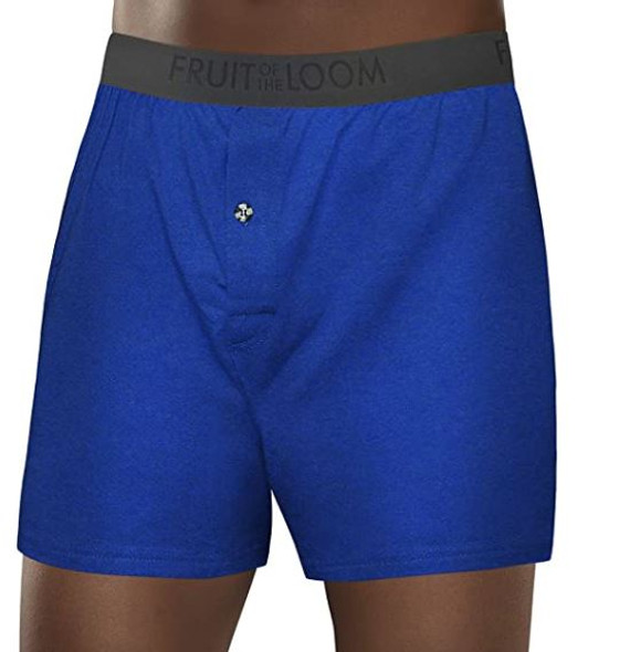 Men Boxers Fruit of the Loom Knit Breathable Cooling Cotton Micro-Mesh Soft Flex Waistband Medium