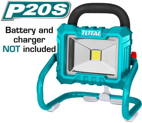LIGHT LED PORTABLE TOTAL TFLI2002 WORK LAMP 20V LITHIUM-ION