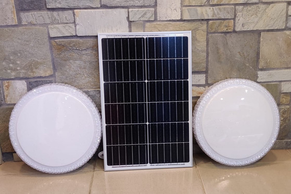 SOLAR LAMP LED CEILING J.F.N.V 60W WITH 1-PANEL AND 2-CEILING FIXTURES