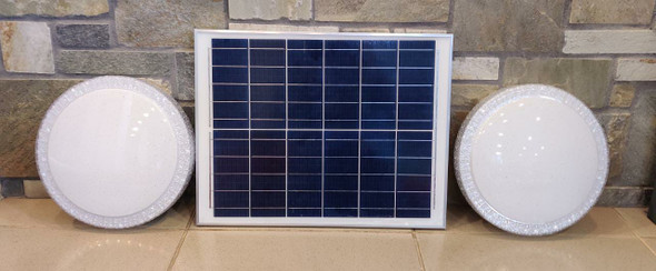 SOLAR LAMP LED CEILING J.F.N.V 30W WITH 1-PANEL AND 2-CEILING FIXTURES