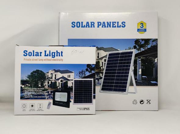 LAMP LED SOLAR FLOOD 60W JORTAN 6000K IP65