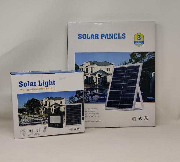 LAMP LED SOLAR FLOOD 40W JORTAN 6000K IP65